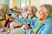 Elderley people exercising