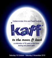 KAFF logo with moon