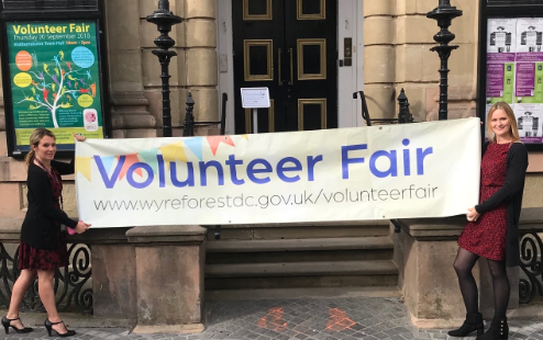 Volunteer Fair banner
