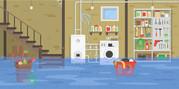 flood damaged household