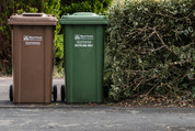 Brown and Green Bin