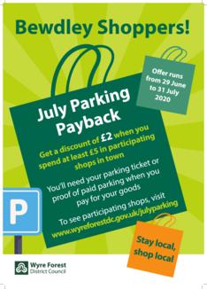 Bewdley parking scheme poster