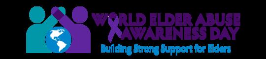 World Elder Abuse Awareness Day Logo - Building Strong Supports for Elders