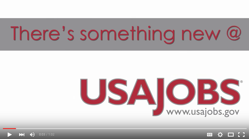 VIDEO: USAJOBS Update
