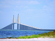 Image of Tampa Florida's Sunshine Skyway Bridge