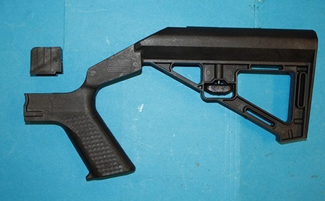 Bump stock from Slide Fire Solutions with its interface block removed