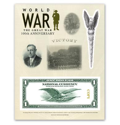 World War I - 2018 Intaglio Print Victory image