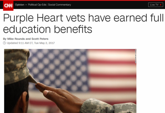Purple Heart vets have earned full education benefits
