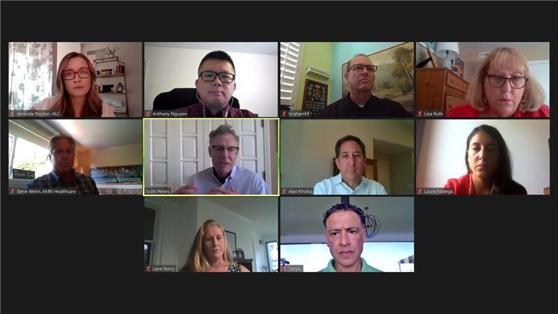 healthcare leadership meeting