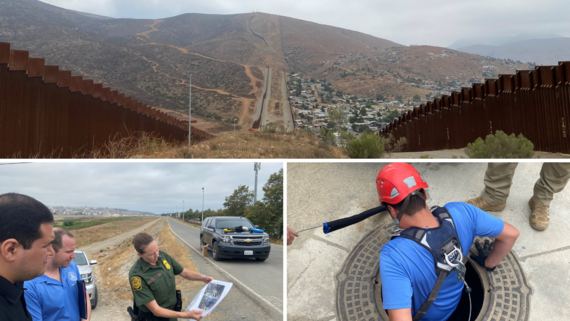 JB and Cesar w border patrol