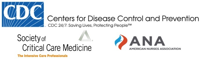 CDC, ANA, SCCM logos