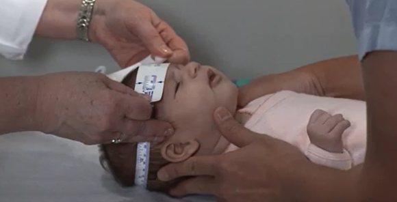 Video about measuring baby head cirumference