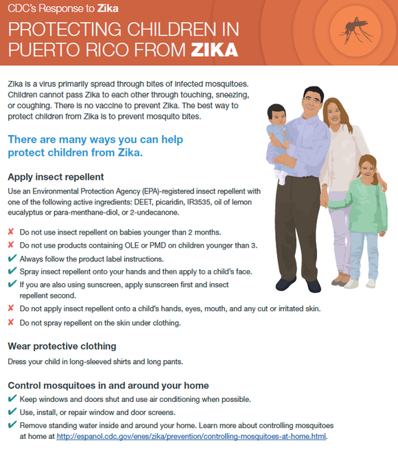 Infographic about protecting kids from Zika in Puerto Rico