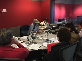 Recording in station for Navajo radio
