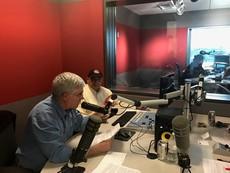 Del Yazzie and Craig Manning in recording studio