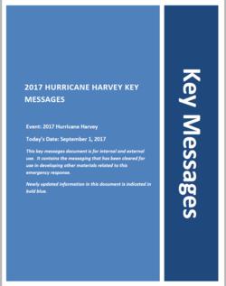 Key messages September 1
