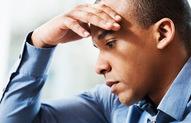Man under stress.