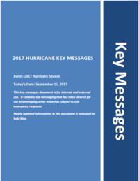 Key messages cover page
