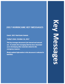 Key Message cover page, October 14