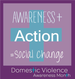 Plus sign with text awareness plus action equals social change