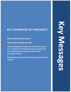 Cover of Key Messages from October 26, 2017