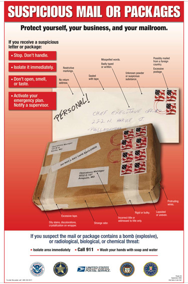 Suspicious Package Infographic