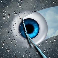 eye with wiper