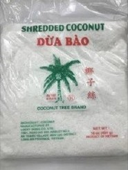 Frozen shredded coconut bag