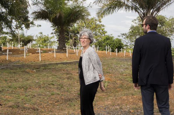 Dr. Anne Schuchat visits Disco Hill Cemetery in Liberia