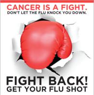 Boxing glove fight the flu