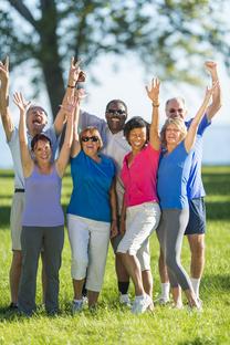Group of senior adults celebrating