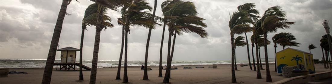 Hurricane Hitting a Beach
