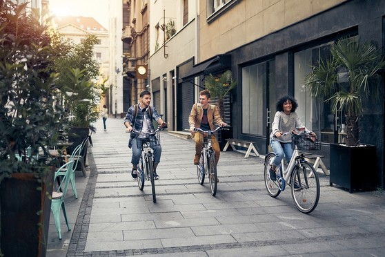 Younger workers in cities more likely to bike to work