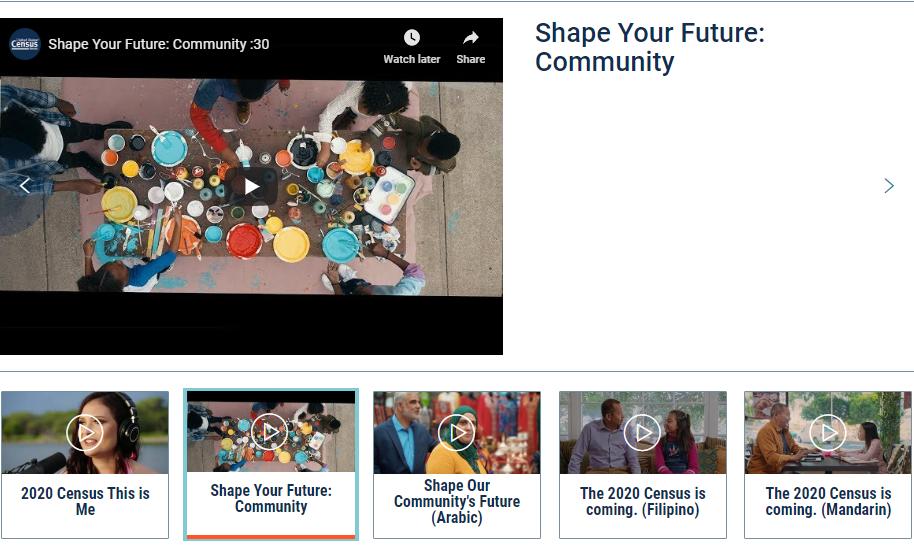 2020 Census Campaign Videos