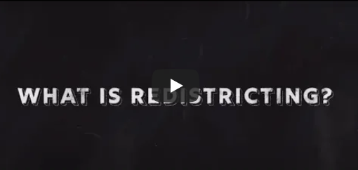 What is redistricting? (Video still shot)
