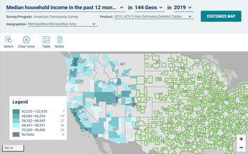 Median household income in the past 12 months