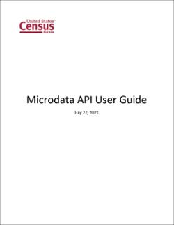 Microdata API User Guide