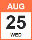 Wednesday, August 25, 2021