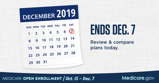 Open Enrollment Ends Dec. 7