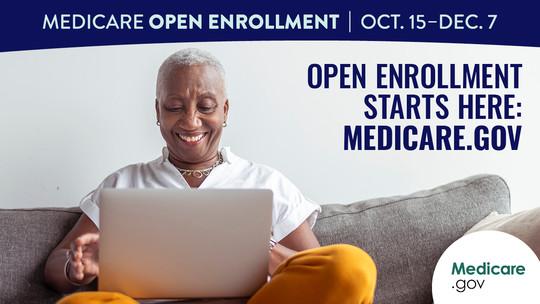"""""""Open Enrollment starts here: Medicare.gov"""" linked image"""