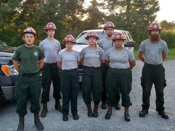 americorps nccc fire management teams fights fires in idaho an americorps nccc atlantic region