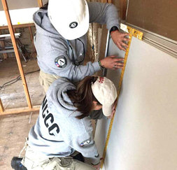 AmeriCorps NCCC members help to rebuild Middleton, CA, after devastating fires.