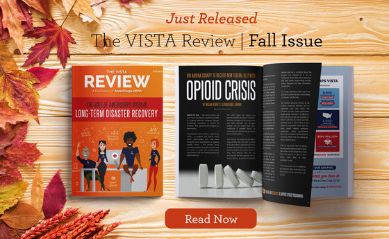 Graphic of the Fall VISTA Review Newsletter