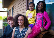 Merrilie Ford (left), Jazmine Gibson, Dulce Galvez Perez, and Lai'Aurii Brice.