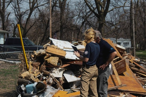 Members assists with recovery efforts