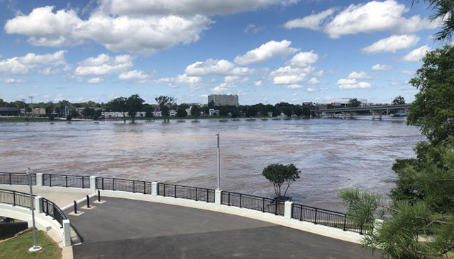 Little Rock, AK, is getting support from AmeriCorps members serving with Volunteer Arkansas to organize volunteers and assist with flood recovery.