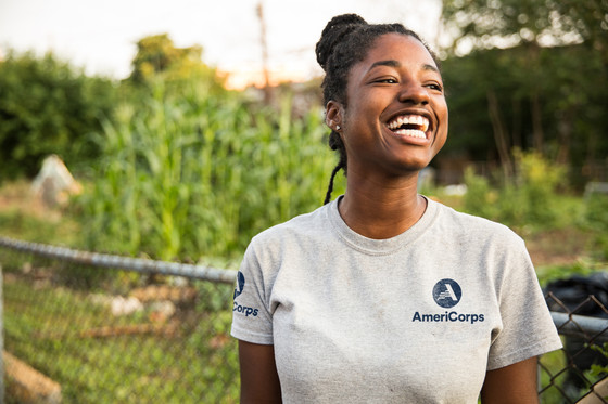 AmeriCorps member