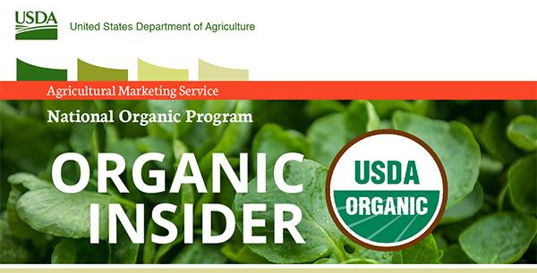 USDA Agricultural Marketing Service national organic program organic insider