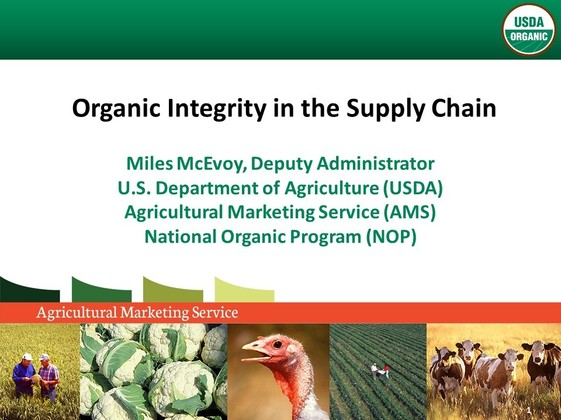Organic Integrity in the Supply Chain