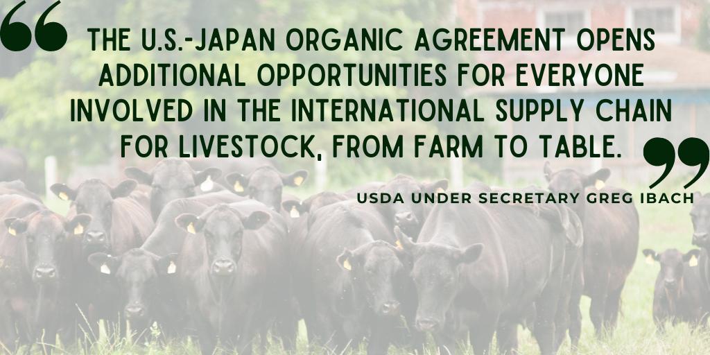 U.S. expands organic equivalency arrangement with Japan